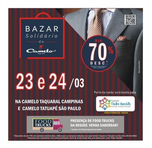 Bazar beneficente em prol do IPH oferece produtos com até 70% de desconto
