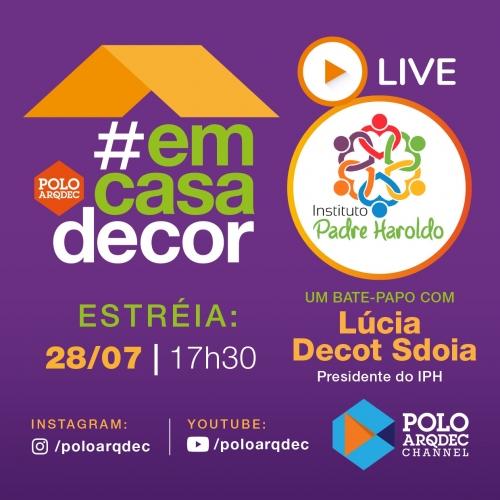 Lúcia Sdoia participa de Live  do Polo Arqdec