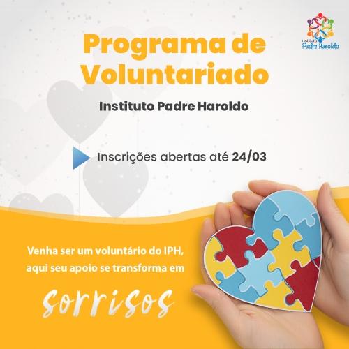 Instituto Padre Haroldo está com vagas abertas para voluntários