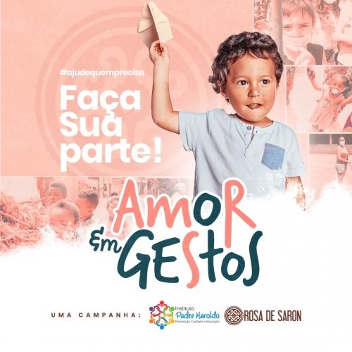 Banda Rosa de Saron promove arrecadação em prol da Campanha Amor em Gestos